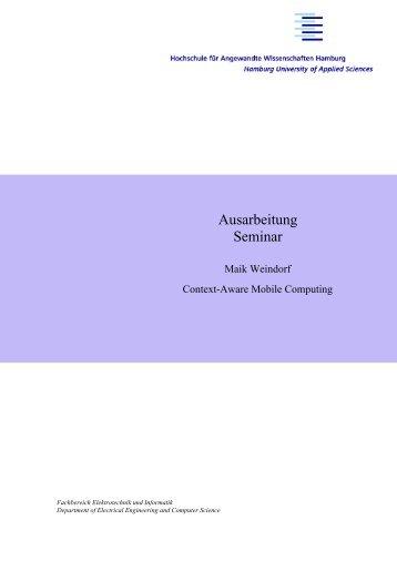 Bericht - Persönliche Webseiten der Informatik - HAW Hamburg