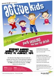 Active Kids School Holiday Park Session - January 2014 Brochure