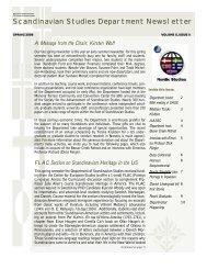 Newsletter Spring 2009 - Department of Scandinavian Studies ...
