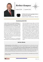 Berliner Kompass 10 2010 - Hans-Werner Kammer