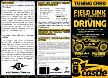 Field Link for Driving User Guide - Castle Creations