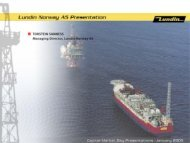 Capital Market Presentation - Norway - Lundin Petroleum