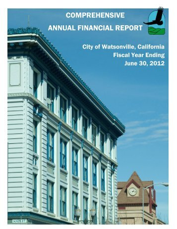 comprehensive annual financial report - City of Watsonville