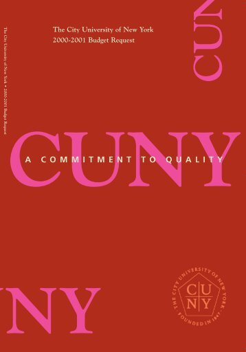 A C O M M I T M E N T T O Q U A L I T Y - Portal Log-in/Citizen CUNY