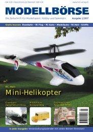 Mini-Helikopter - Modellbörse