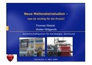 Neue Meilensteinstudien - Was ist wichtig für die ... - Ww-kardio-do.de