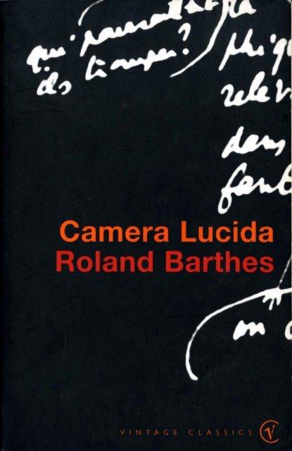 Camera Lucida Roland Barthes - Tendencias de Moda