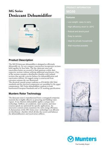 MG Series Desiccant Dehumidifier - ProIdea