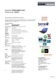 Datenblatt: TERRA MOBILE 1547 Artikelnummer ... - BUSSMANN