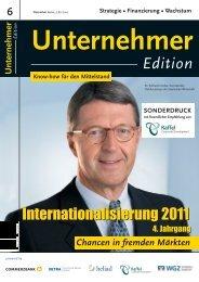 Artikel Unternehmer Edition Dezember 2010 - Raffel GmbH