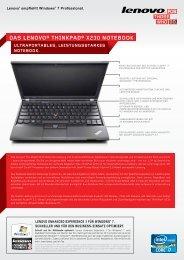 DAS LENOVO® THINKPAD® X230 NOTEBOOK