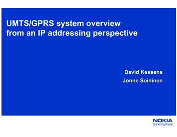 UMTS/GPRS system overview from an IP addressing ... - RIPE 64