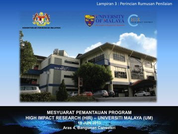 Lampiran 3 - High Impact Research - Universiti Malaya