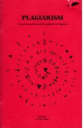 Plagiarism: Art As Commodity and Strategies for ... - El plagio literario
