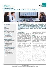 Bundesanstalt: Citrix-Infrastruktur für Telearbeit und mobile Nutzer