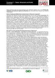 Factsheet_7_Tabak_Wirtschaft und Politik - RAUCHFREI DABEI