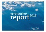 Präsentation BDL-Verbraucherreport 2013