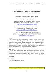 Calcul des seiches à partir du logiciel Refonde - Paralia.fr