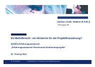 EU-Beihilferecht - ein Hindernis für die ... - GGSC Seminare