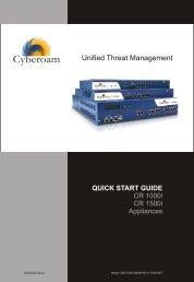 Cyberoam Quick Start Guide-1000i-1500i