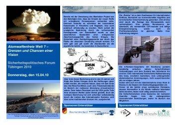 Atomwaffenfreie Welt ? – Grenzen und Chancen einer Vision ...