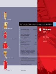 Flamco ontluchtingsprogramma en vuilafscheiders - Warmteservice