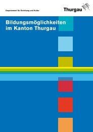 Bildungsmöglichkeiten im Kanton Thurgau