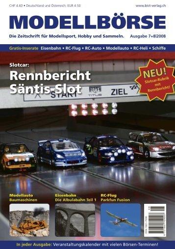 Rennbericht Säntis-Slot - Modellbörse