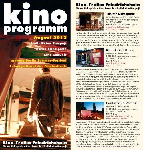 Flyer August 2013 - ZUKUNFT am Ostkreuz