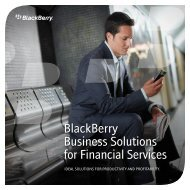 BlackBerry Business Solutions for Financial Services