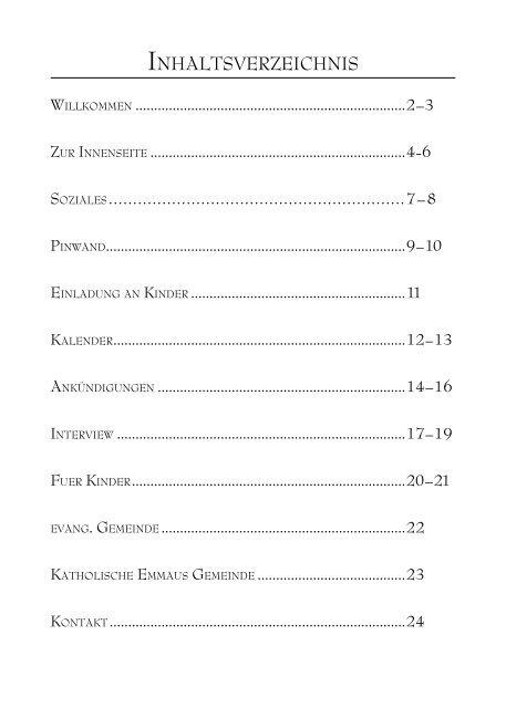 Ökum. Gemeindebrief (Nr.04, Sept. - Nov. 2010) - Deutschsprachige ...