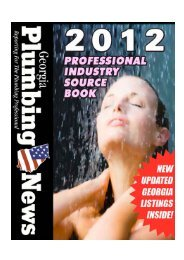 Georgia Plumbing News: 2012 Industry Source Book