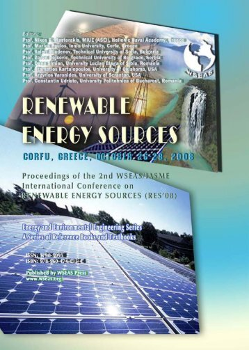 renewable energy sources - WSEAS