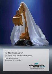 Forfait Pack salon - Baumaschinen-Messe