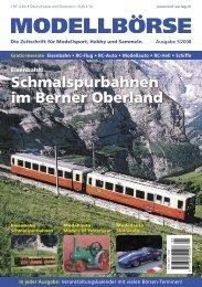 Schmalspurbahnen im Berner Oberland - Modellbörse