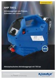 Broschüre AHP 700-L - Gustav Klauke GmbH