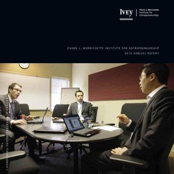 2010 - Ivey Institute for Entrepreneurship