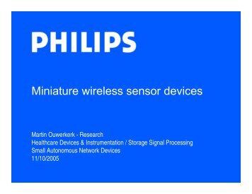 Small Autonomous Network Devices - Future Technology Center