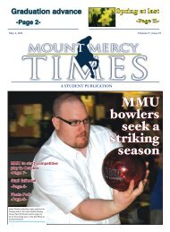 MMU bowlers seek a striking season - Mount Mercy Times - Mount ...