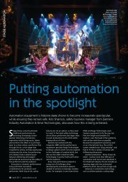 Putting Automation in the Spotlight, Drives & Controls April 2011