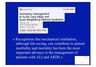 Recognition that mechanical ventilation, although life-saving ... - SRLF