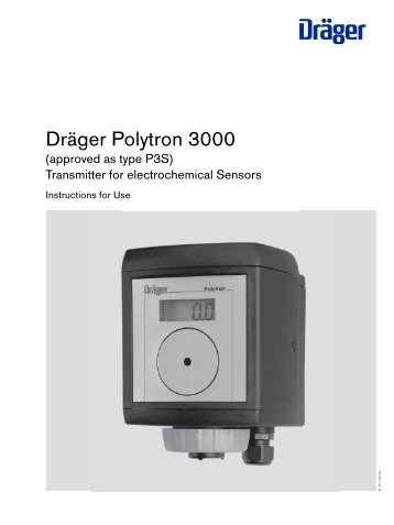 dr ger polytron 3000 fixed gas detector keison products rh yumpu com drager polytron 3000 user manual Polytron Transparent Phone