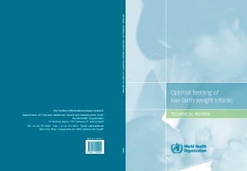 Optimal feeding of low-birth-weight infants - iDOC Africa
