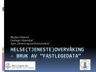 Fastlegedatabasen - Arendal kommune