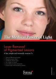 What is Laser Removal of Pigmented Lesions? - Fotona