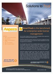 SmartTrack Datasheet - JevoTrust Management AG