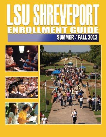Summer & Fall 2012 - Louisiana State University at Shreveport