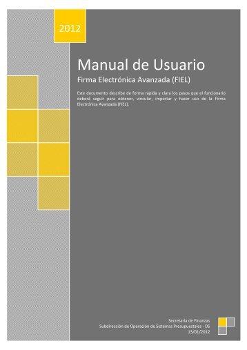 Manual de Usuario FIEL
