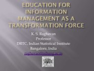 Education for Information Management as a Transformation Force