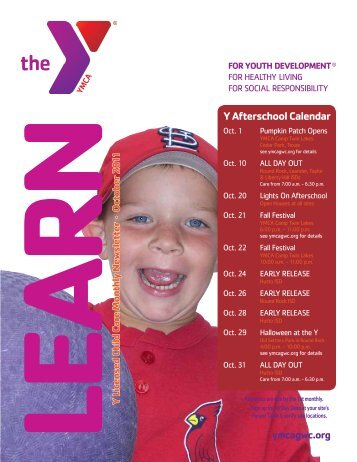 Y Afterschool Calendar - YMCA of Greater Williamson County